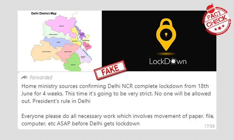 No, There Will Not Be A Lockdown In Delhi From June 18