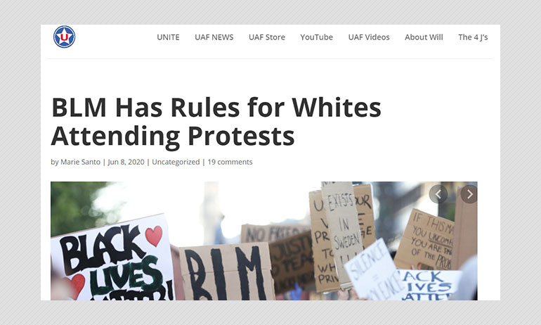 Did Black Lives Matter Issue Rules For White Protesters? A Fact Check