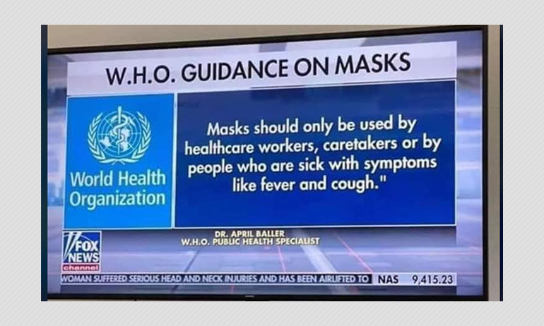 Outdated Mask Information Issued By WHO Expert Goes Viral