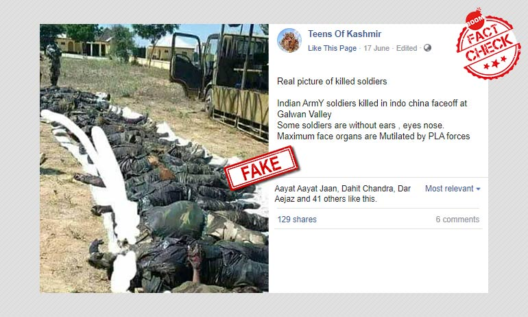No This Photo Is Not Of Indian Troops Killed In Galwan Valley