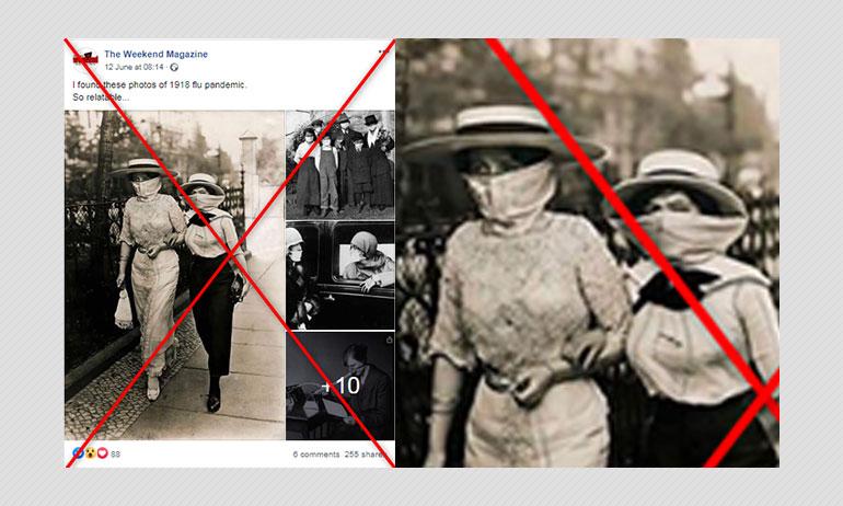 Vintage Photos Taken During Spanish Flu Pandemic? Not Quite