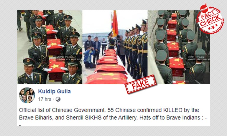 Unrelated Photos Falsely Shared As Chinese Soldiers Killed In India-China Clash