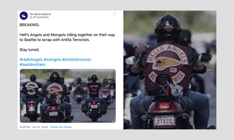 Did Biker Gangs Unite To Drive Antifa Out Of Seattle? A Fact Check