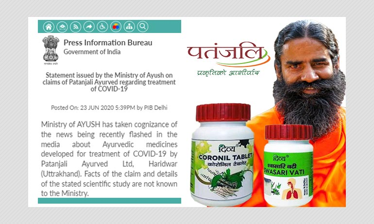 AYUSH Ministry Asks Patanjali To Stop Advertising COVID-19 Tablets