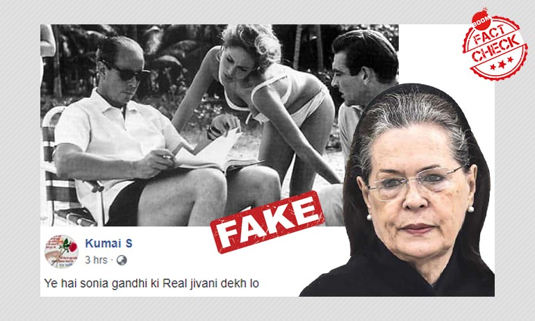 Photo Of James Bond Movie Actress Passed Off As Sonia Gandhi