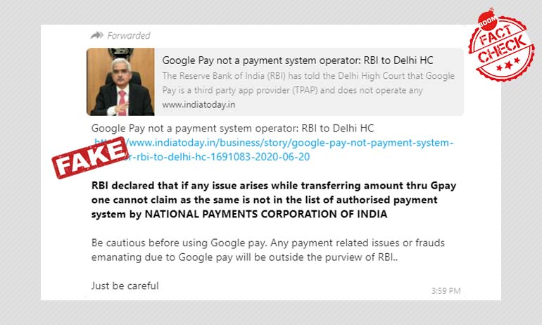 Google Pay Says Transactions Are Secure, Redressal Mechanism Applicable