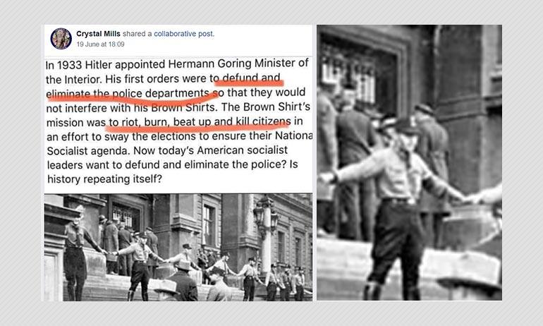 No, Nazis Under Hermann Goering Did Not Defund German Police