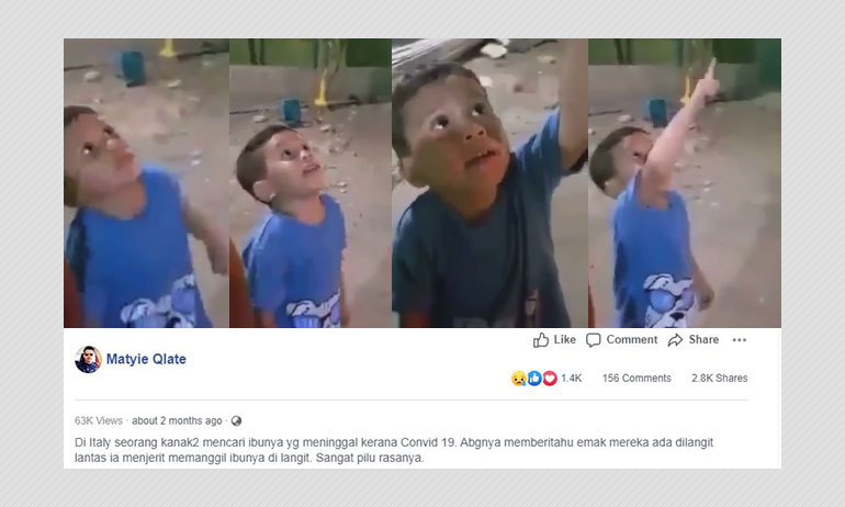 Video Of Boy Calling Out To Dead Mother Shot Before COVID-19 Pandemic