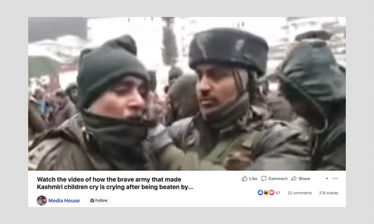 Video Of A CRPF Jawan Crying Peddled With False China Claim