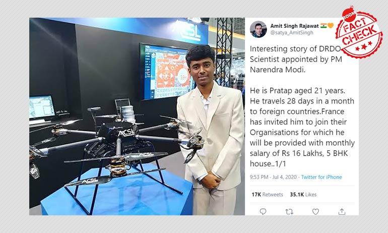 Did PM Modi Appoint Drone Wiz Prathap As A DRDO Scientist?