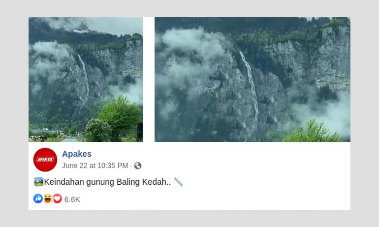 The Waterfall In This Video Is In Switzerland And Not Malaysia