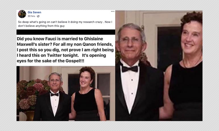 No, Dr Anthony Fauci Is Not Married To Ghislaine Maxwell