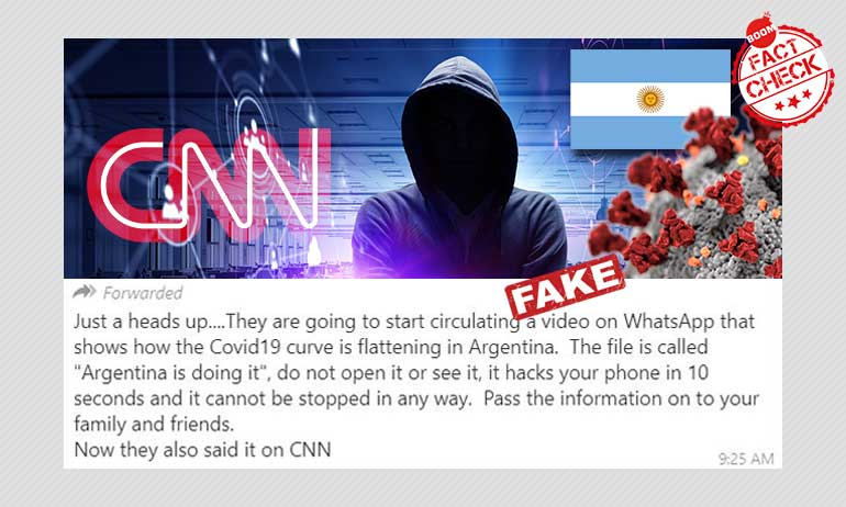 Fake Message Claims Argentina Is Doing It Video Will Hack Your Phone