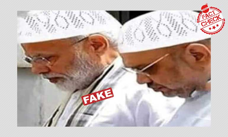 Morphed Image Of PM Modi And Amit Shah Viral With Misleading Claims