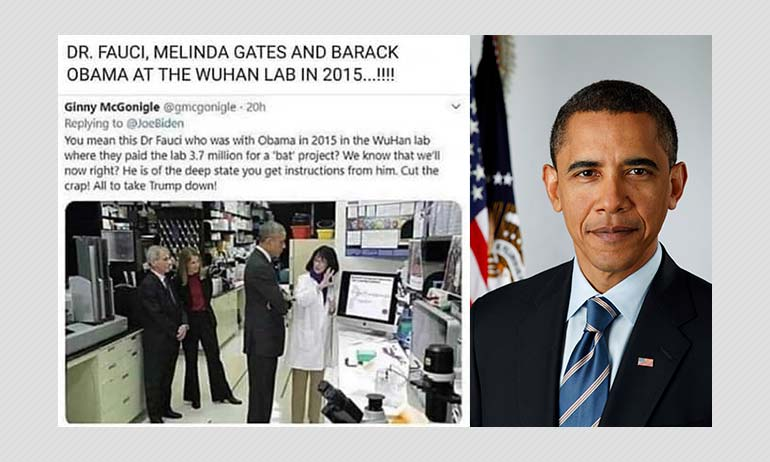 Is This Photo From Barack Obama And Anthony Fauci's Visit To Wuhan Lab?