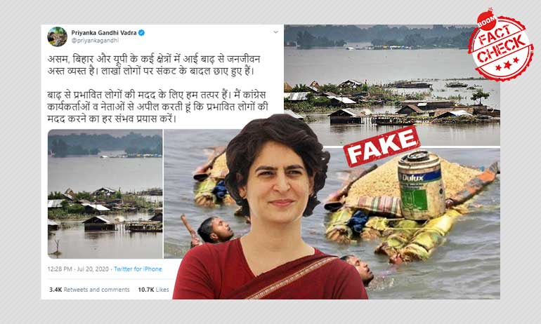 Priyanka Gandhi Vadra Tweets Old Photos As Recent Floods In Assam, Bihar