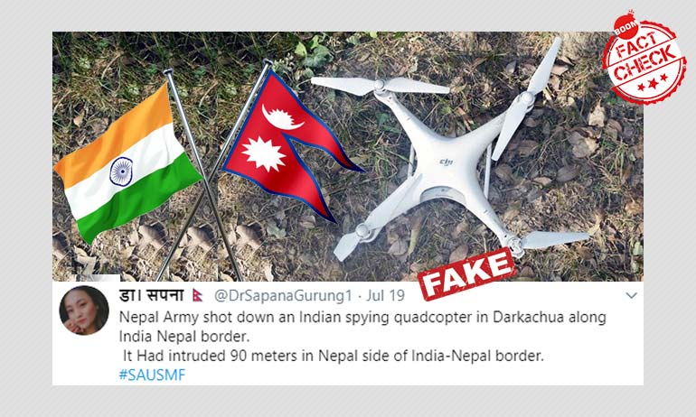 No, This Is Not An Indian Spying Quadcopter Shot Down By The Nepali Army