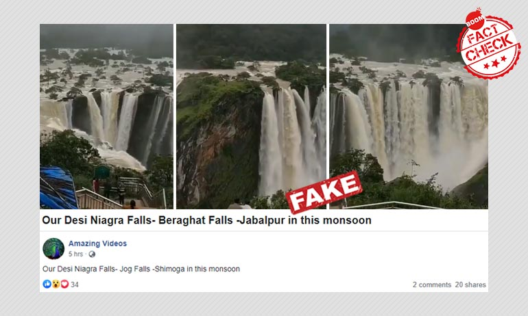 Video Of Jog Falls In Karnataka Viral As Bhedaghat Falls In MP