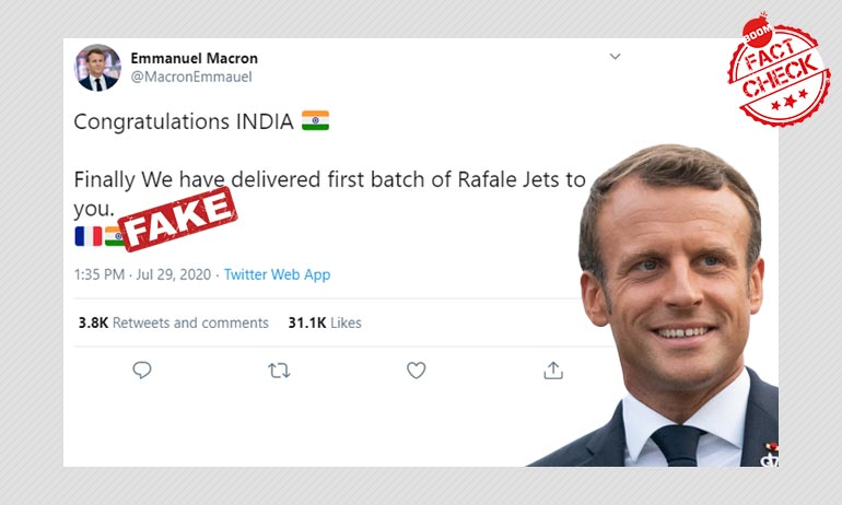 Tweets From Fake Emmanuel Macron Account On Rafale Jets Go Viral