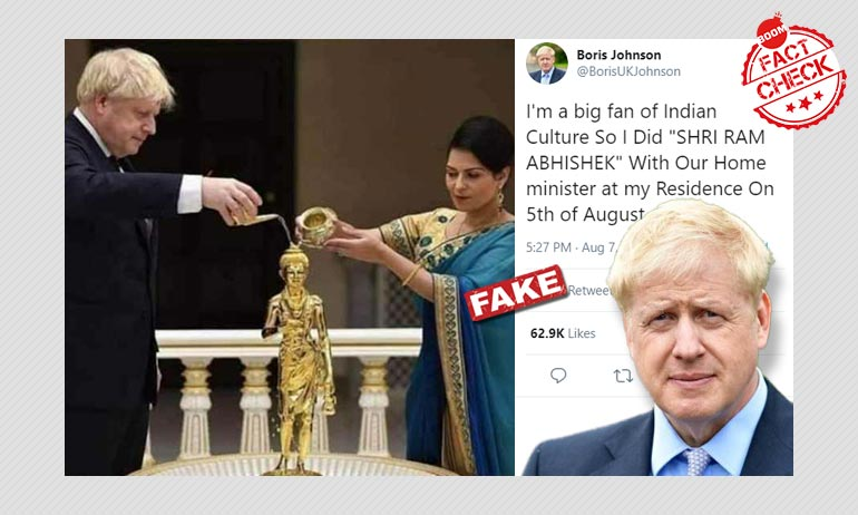 Did UK PM Boris Johnson Perform Ram Abhishek To Mark Bhumi Pujan?