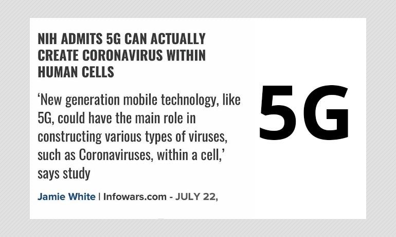 No, 5G Network Cannot Create Coronavirus Within Human Cells