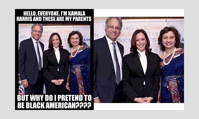 No Kamala Harris Parents Are Not In This Photo With Her