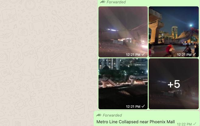 Pics Of Gurugram Flyover Collapse Peddled As Mumbai Bengaluru Ahmedabad