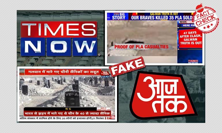 Aaj Tak, Times Now Air Video Of 1962 War Memorial As Proof Of Galwan