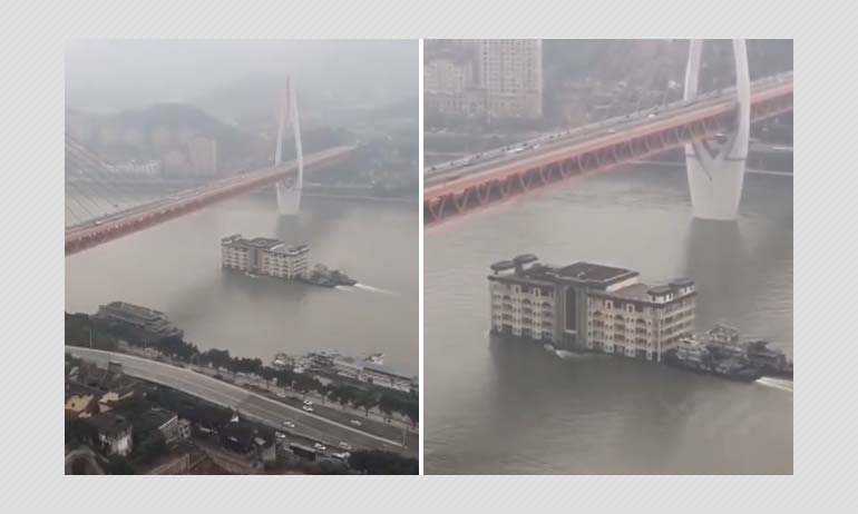 No, This Video Does Not Show A Moving Mansion On A River In China