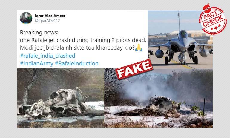 2019 Mirage Jet Crash Photos Viral As Rafale Crash During Training