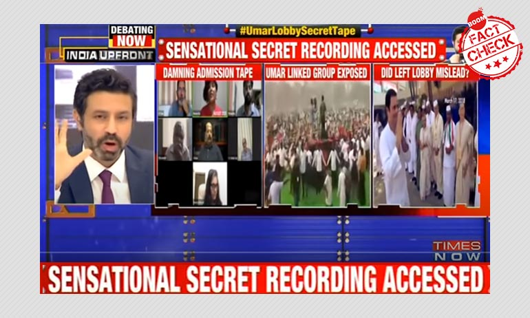 Times Now Airs FB Live Video As Secret Admission By Activists On PFI