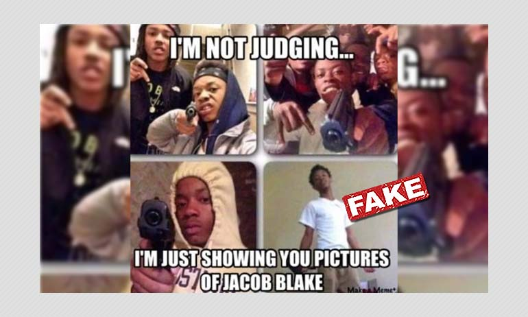 Photos Of Deceased Chicago Teen Shared As Jacob Blake Posing With Guns
