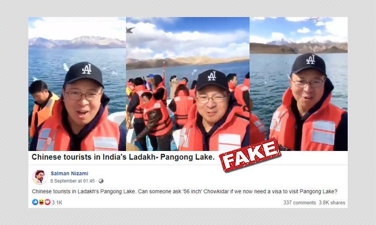 Were Chinese Tourists Holidaying On Indian Side Of Pangong Tso?