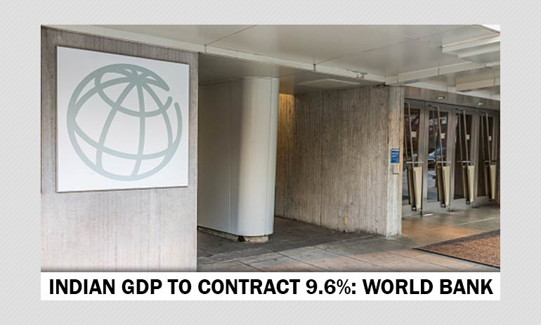 Indias GDP To Contract 9.6% In FY21, Estimates World Bank
