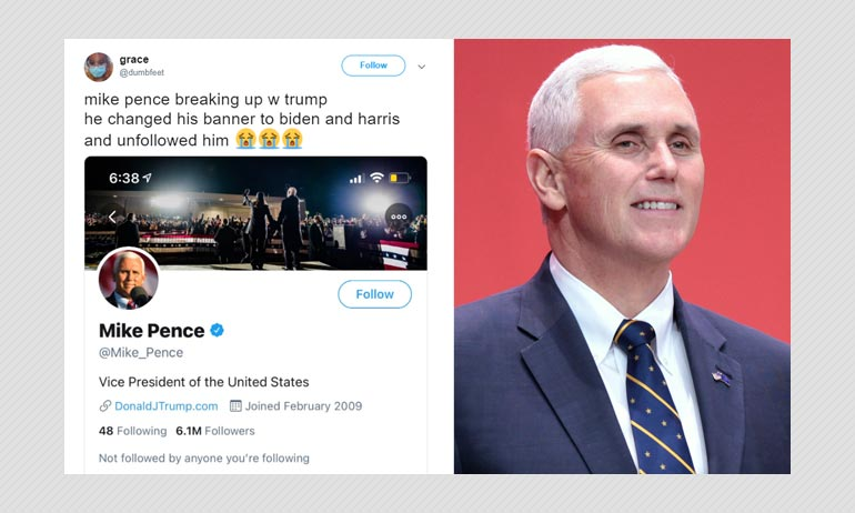 Vice President Mike Pence Has Not Unfollowed Donald Trump ...