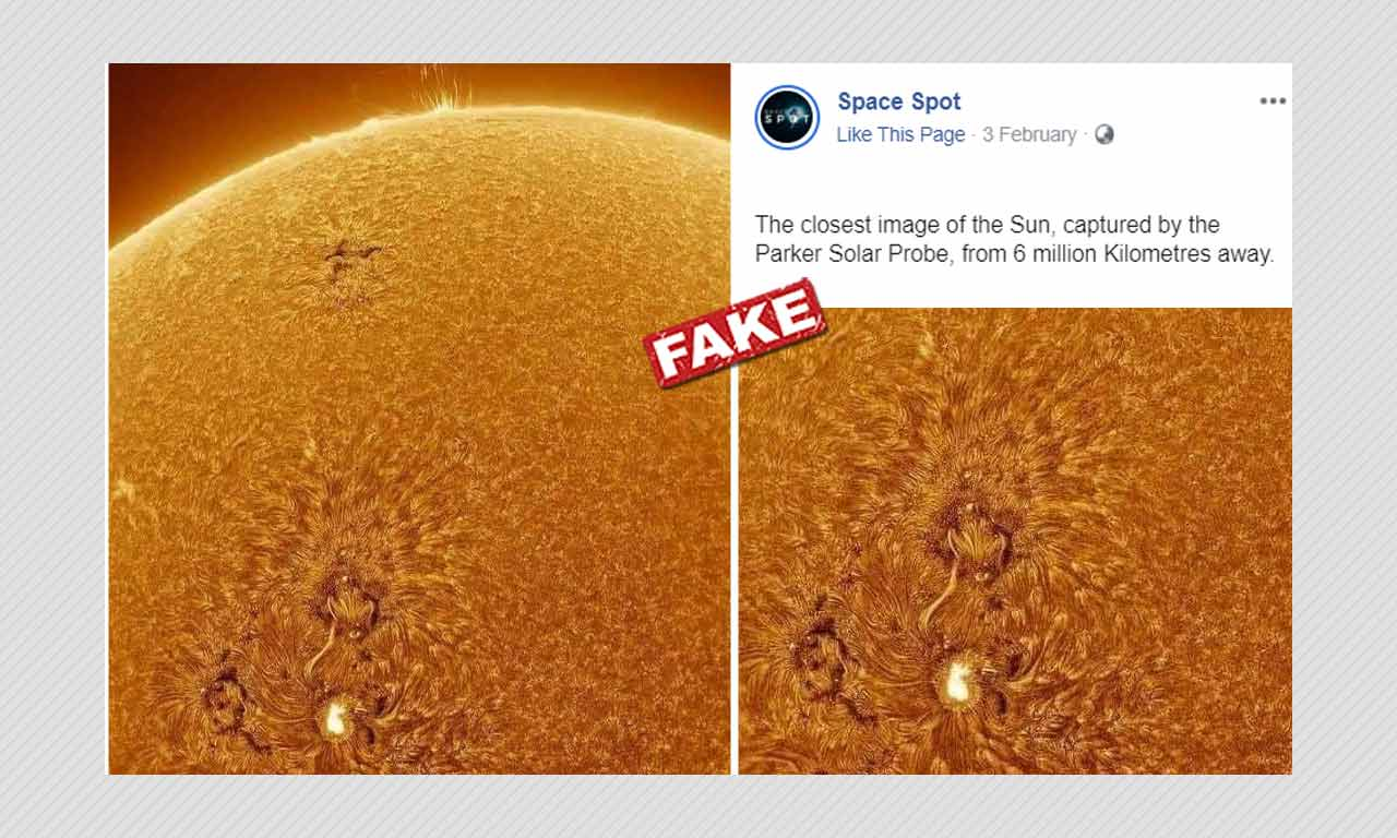 NASAs Parker Solar Probe Did Not Take This Photo Of The Sun - BOOM