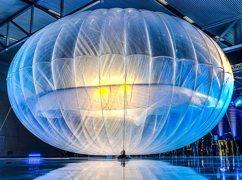 A Project Loon research balloon. Source: Wikipedia Commons