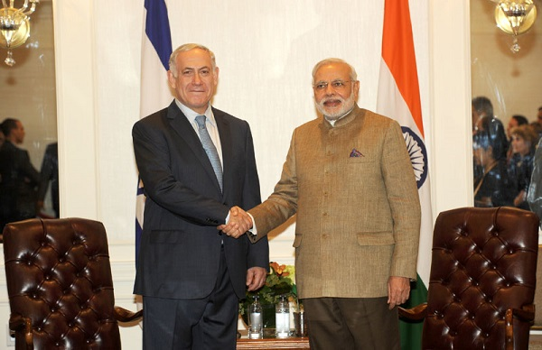 The Prime Minister of Israel, Mr. Benjamin Netanyahu meeting Narendra Modi, in New York.