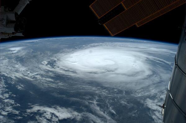 Hurrican Arthur ISS