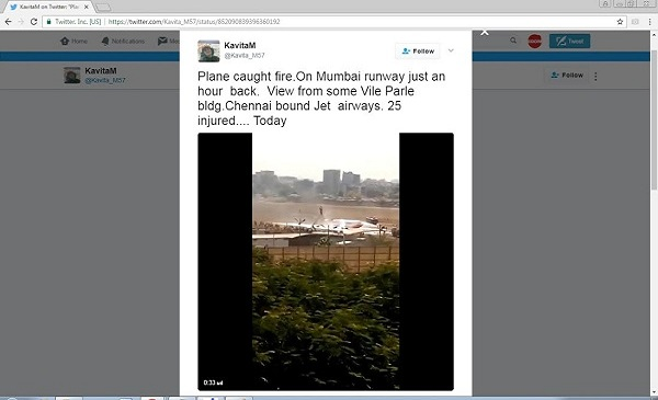 Fake News Police: Twitter Video Of Jet Airways Aircraft On Fire Is Fake
