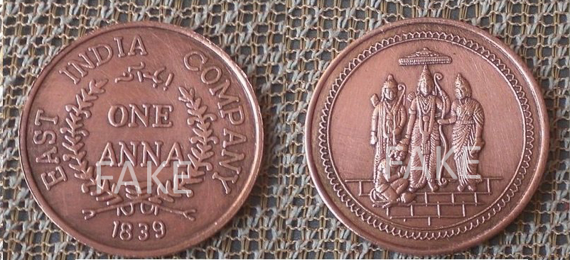 Boom Are These East India Company Coins With Indian Gods
