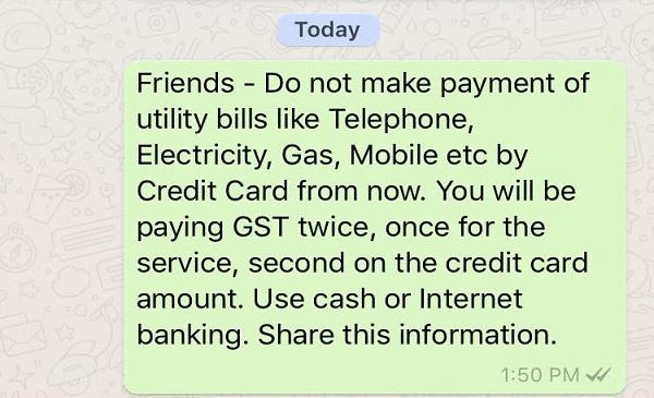 WhatsApp Message On GST