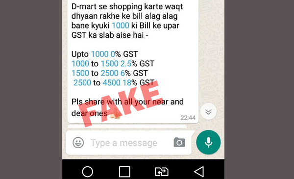 Hoax Forward Asks You To Split Bill To Attract Lower GST While Shopping