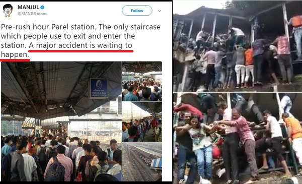 100 Old Tweets Warning About A Stampede Show Why Mumbai Is Angry