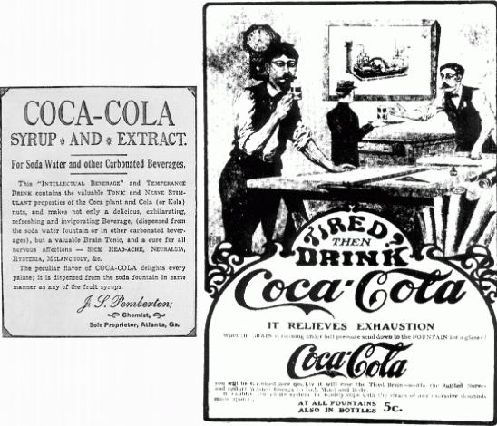 Coca Cola ad, 1886