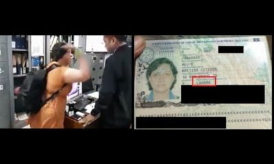lady slapping an immigration officer in Bali