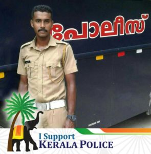 Kerala cop's photo made viral as Vallabh Das a CPM worker