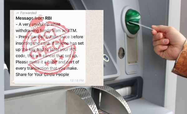 Can Pressing 'Cancel' Twice On An ATM Prevent PIN Theft? | BOOM