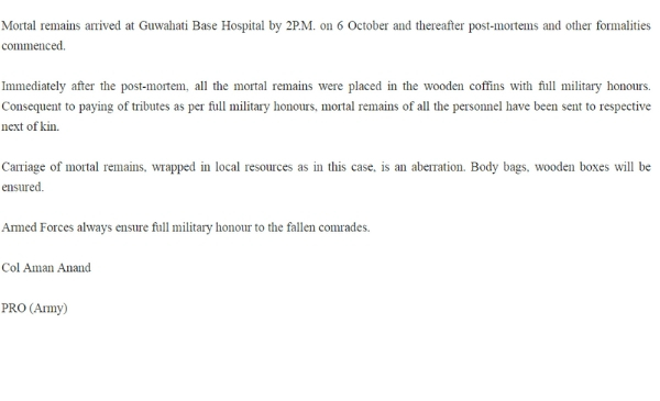 PIB-release on Tawang chopper crash