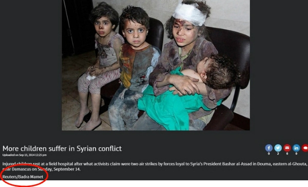 Picture of Syrian kids published in Reuters